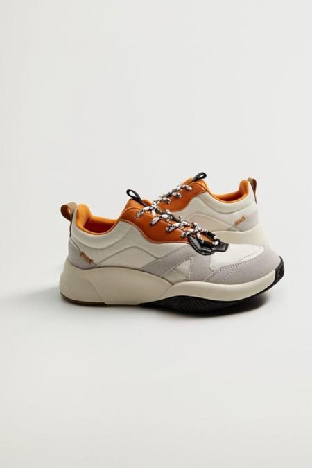 Mango Beyaz Platformlu Spor Ayakkabı