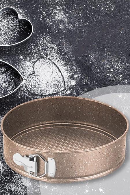KORKMAZ Bakır Torta 24cm Kelepçeli Kek Kalıbı