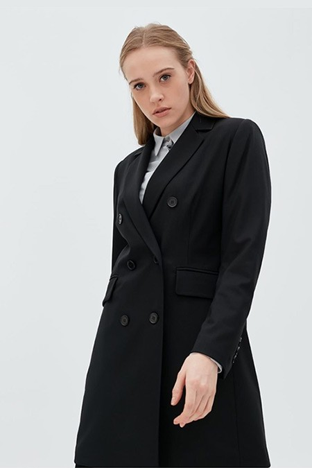 Kayra Siyah Basic Blazer Ceket