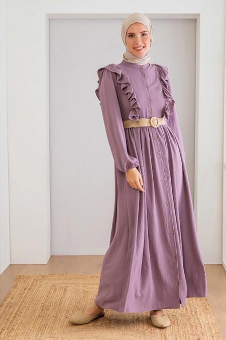 LOREEN Rose Fırfır Detaylı Elbise