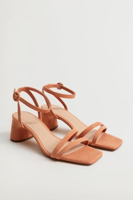 Mango Topuklu Deri Sandalet
