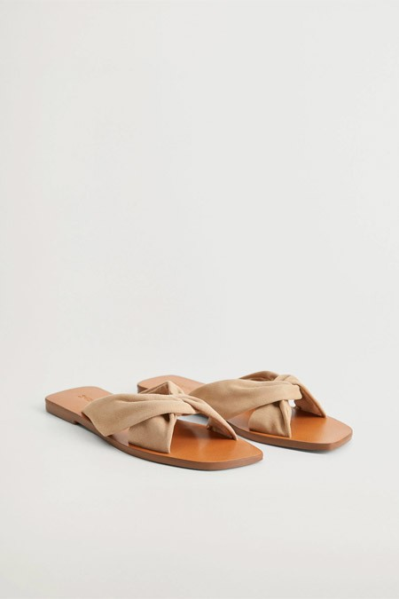 Mango Deri Bantlı Sandalet