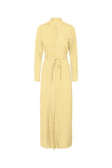 Fabrika x Copenhagen Sarı Puantiyeli Beli Kemerli Elbise