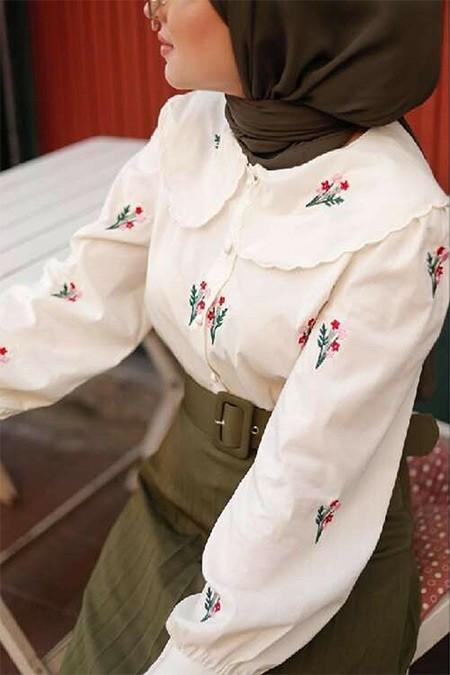 Esra Keküllüoğlu Bej Paris Gömlek