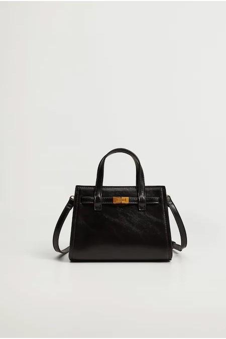 Mango Siyah Mini Shopper Çanta