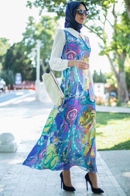 Puane Mor Renkli Elbise