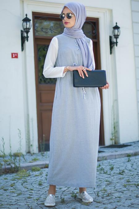 Mimya İndigo Jile Elbise