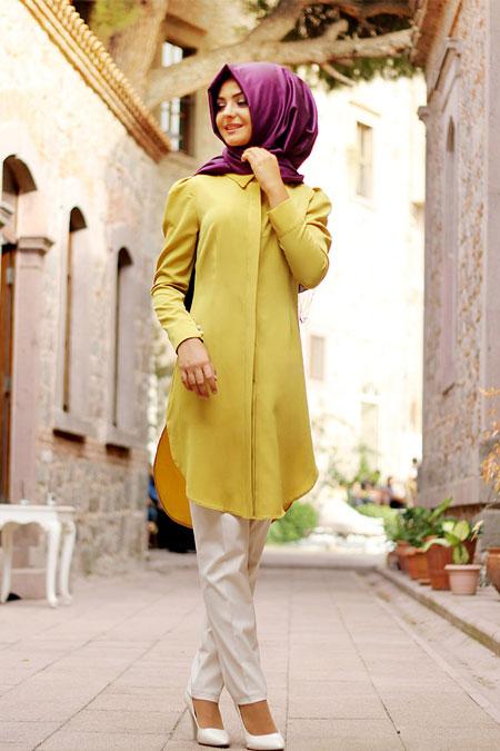 Pınar Şems Oksit Sarı Kısa Tunik