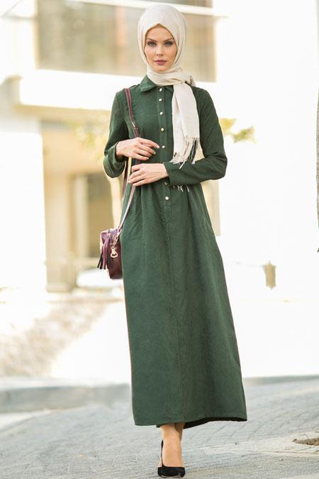 Refka Haki Nubuk Elbise