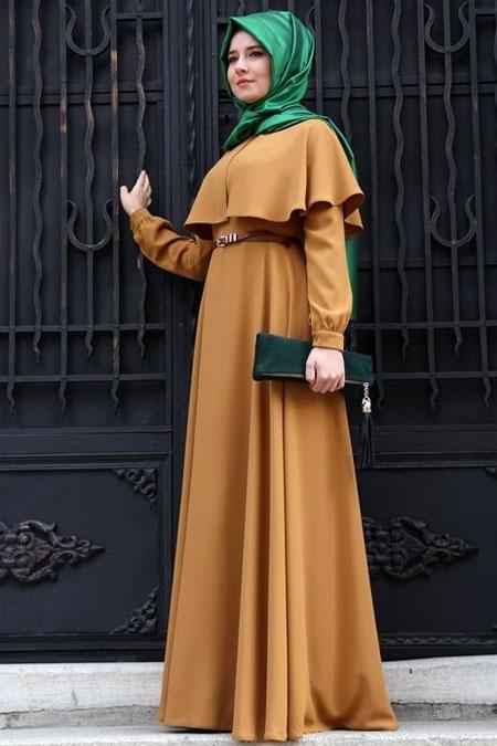 Mevra Hardal Pelerin Elbise