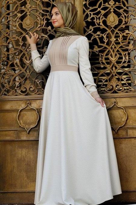 Minel Aşk Kahve Nervürlü Kazayağı Elbise