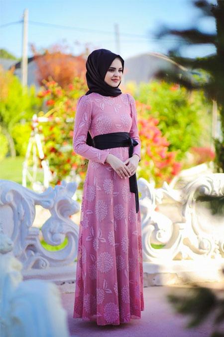 Minel Aşk Pudra Manolya Elbise