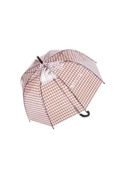 Yargıcı Şeffaf Desenli Şemsiye