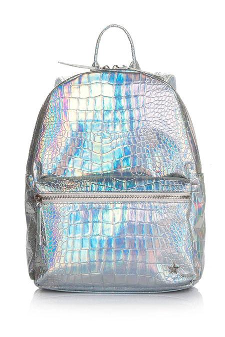 Charvila Beyaz Metalik Sırt Çanta