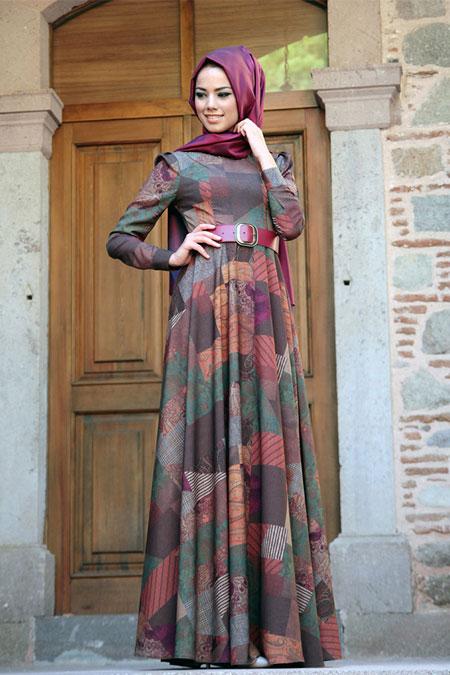 Mevra Etnik Desenli Elbise
