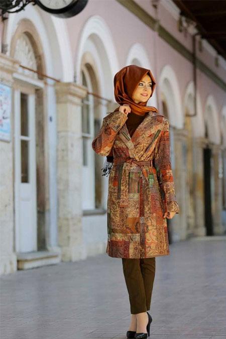 Pınar Şems Kilim Desenli Trenckot