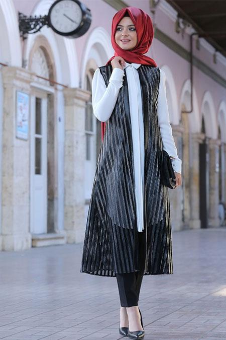 Pınar Şems Siyah Miranda Yelek