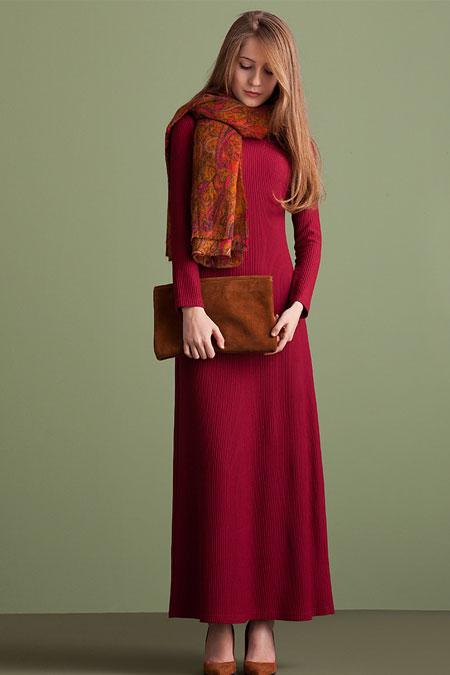 Kuaybe Gider Bordo Baja Elbise