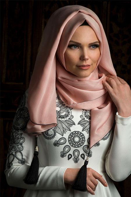 Muslima Wear Pudra Püsküllü Şal