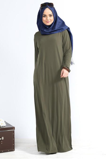 Alia Haki Basic Elbise