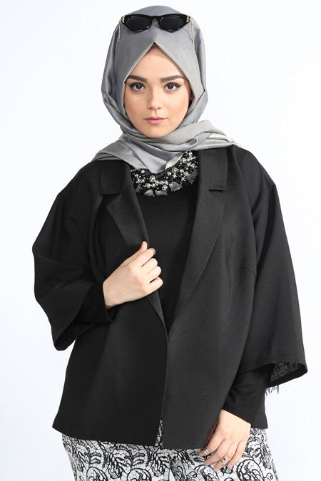 Alia Siyah Şal Yaka Ceket