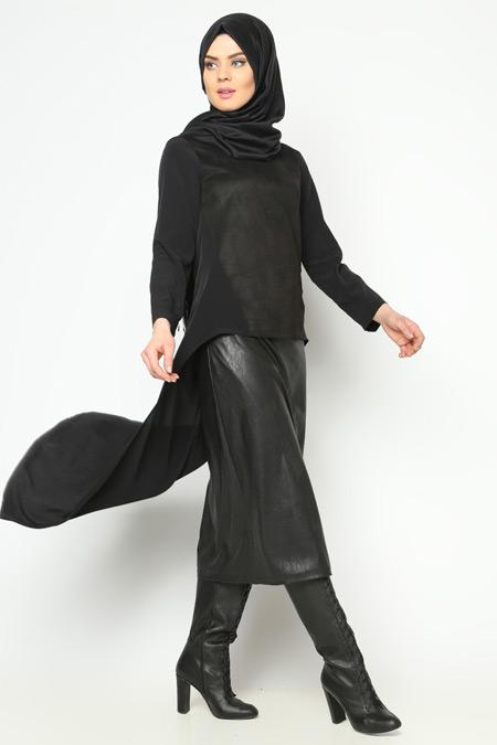 NZL Siyah Arkası Uzun Bluz