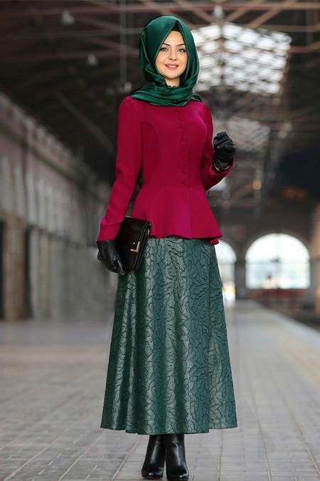 Pınar Şems Yeşil Arya Etek
