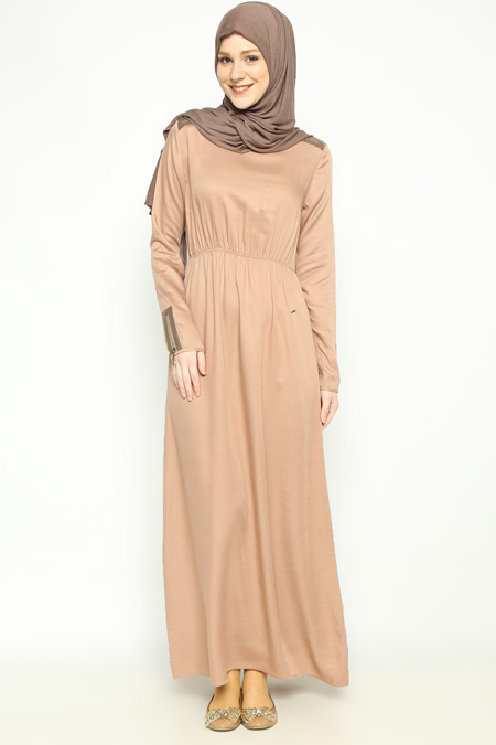Allday Pudra Fermuar Detaylı Elbise