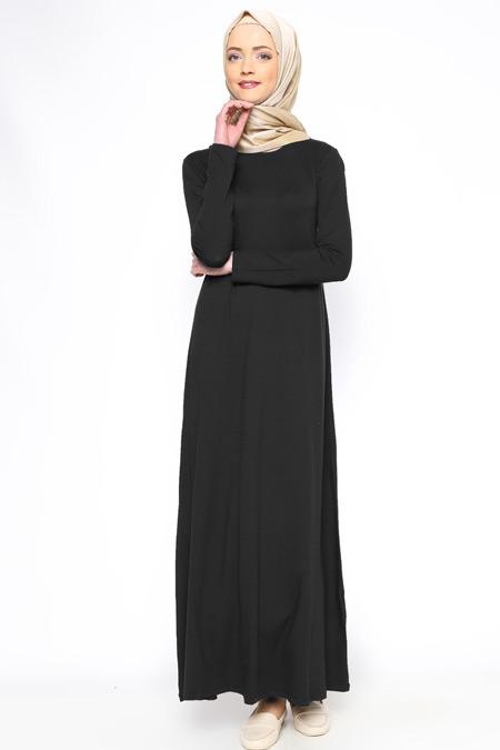 Moonlight Siyah Basic Elbise