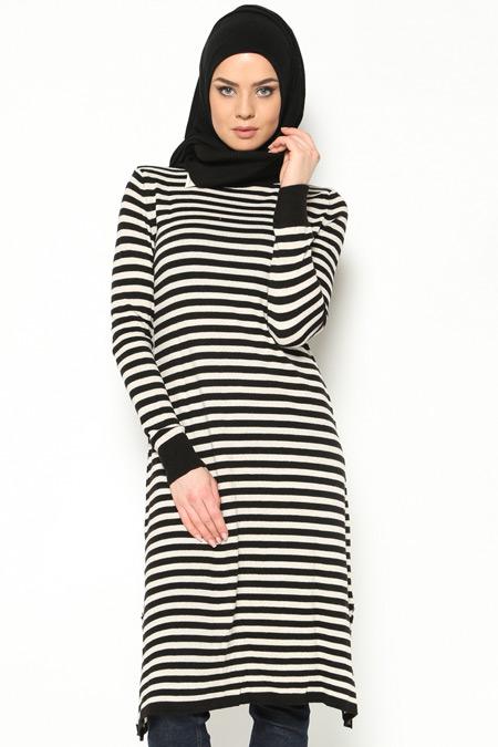 Seyhan Fashion Siyah Triko Tunik
