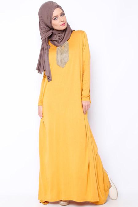 Everyday Basic Safran Salaş Elbise