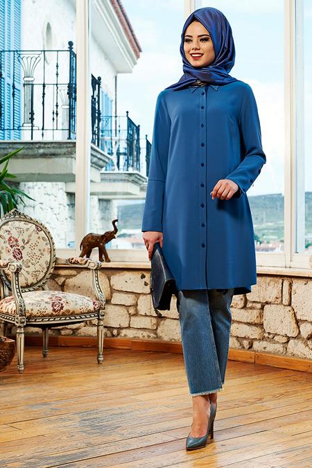 Mevra Mavi Milano Tunik