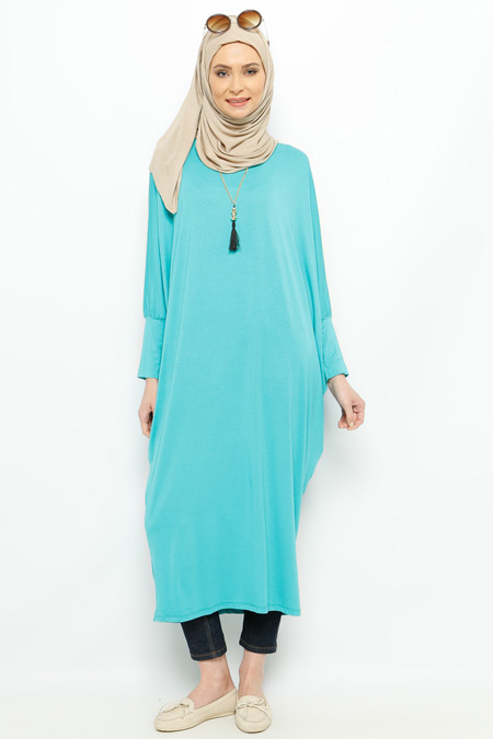 Moonlight Mint Salaş Tunik