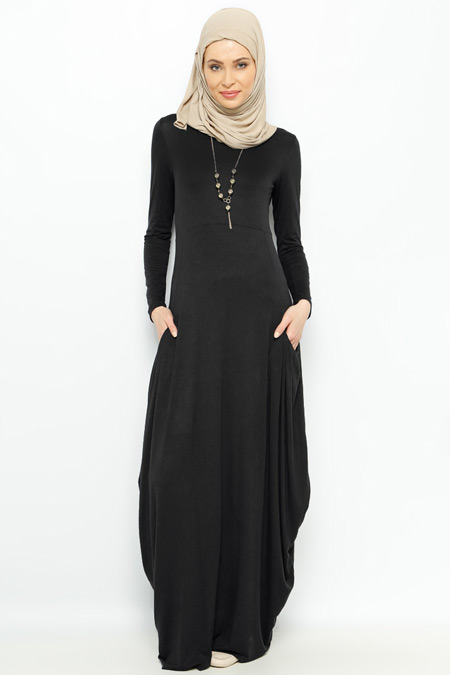 Moonlight Siyah Kolyeli Elbise