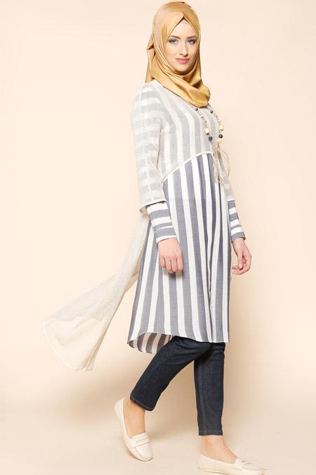 Puane Antrasit Bluz & Tunik İkili Takım