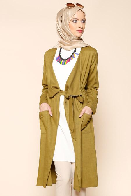 Puane Yeşil Hırka & Tunik İkili Takım
