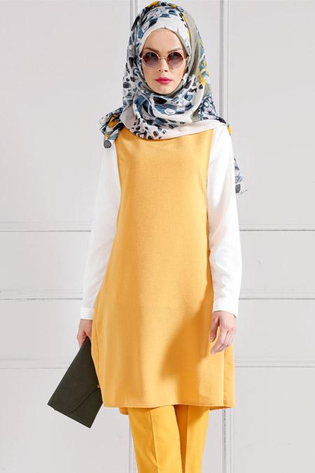 Refka Safran Bluz & Tunik İkili Takım
