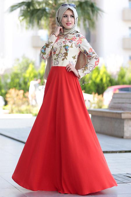 Selma Sarı Design Turuncu Nakışlı Dantel Abiye Elbise
