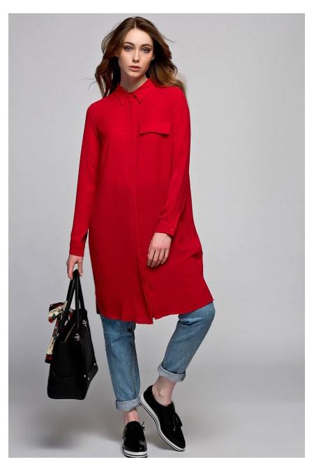 Vavist by trendyol Kırmızı Tunik
