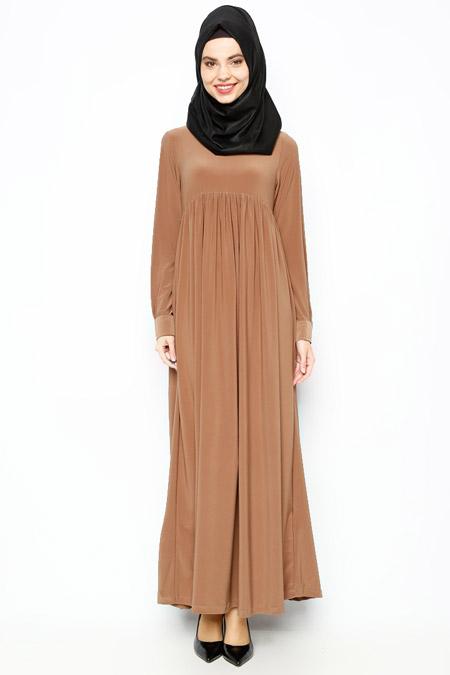 Allday Camel Robadan Elbise
