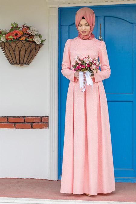 Kübra Biriktir Somon Alya Elbise