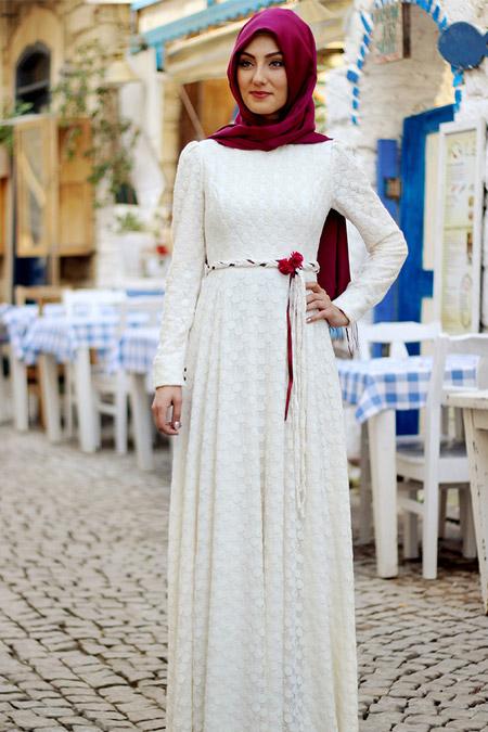Nurkombin Ekru Belinay Elbise