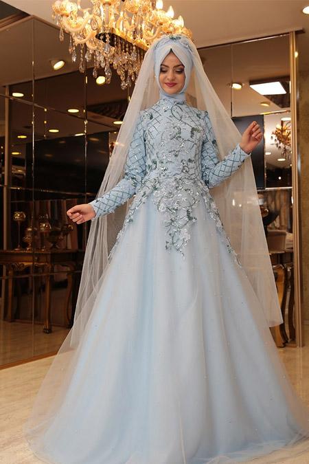 Pınar Şems Mavi Salkım Abiye
