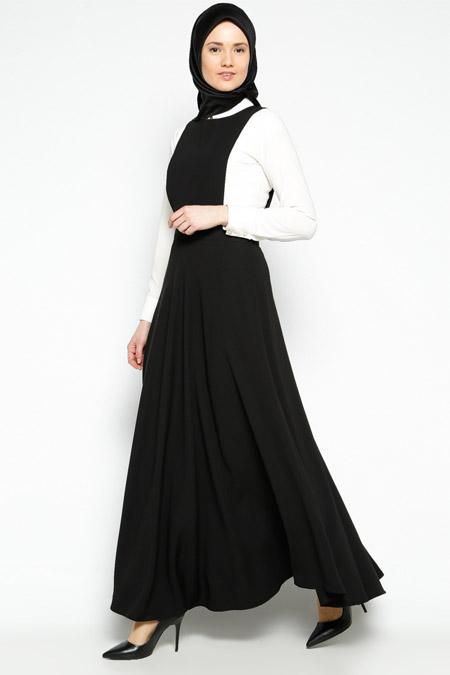 Pita Siyah Jile Elbise