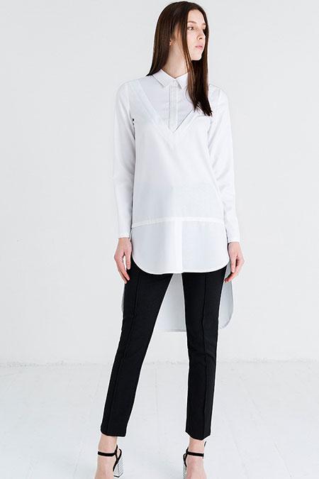Store Wf Beyaz Gömlek Yaka Tunik