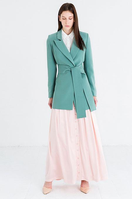Store Wf Yeşil Şal Yaka Ceket