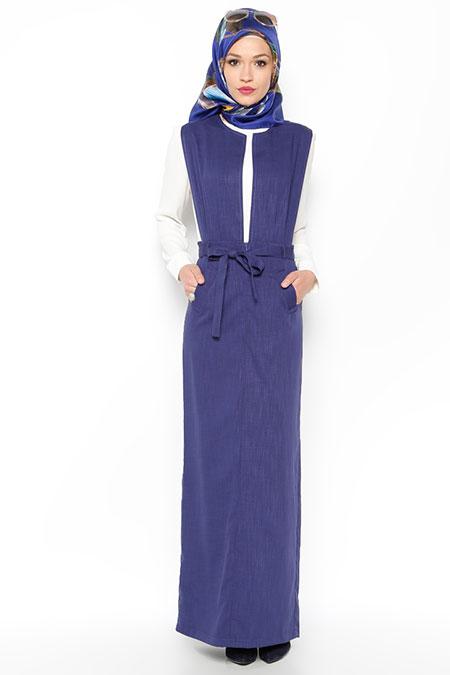 LOREEN Lacivert Kolsuz Elbise