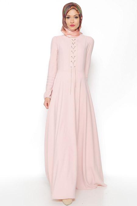 LOREEN Pudra Zincir Detaylı Elbise