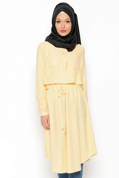 LOREEN Sarı Cep Detaylı Tunik