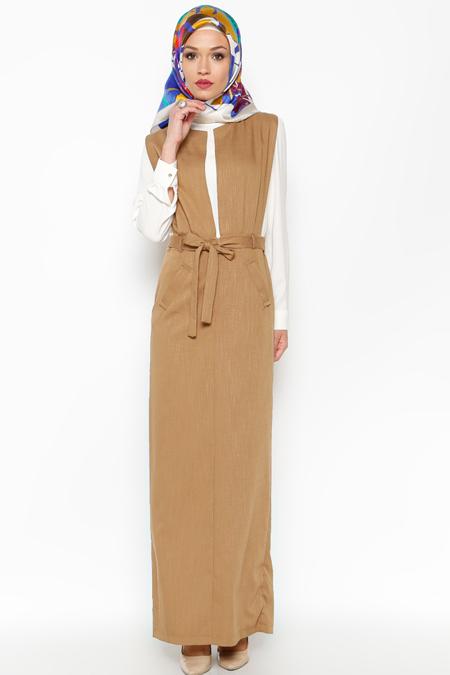 LOREEN Taba Kolsuz Elbise